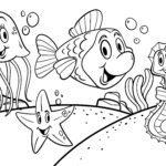 Tegninger til farvelægning dyr i vandet Vanddyr