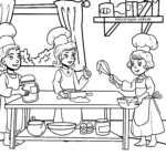 Coloring page baking for Christmas
