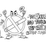 Malvorlage Welt Nichtrauchertag