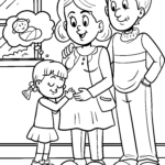 Coloring page we're having a baby