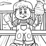 Coloring page cotton candy | Food fair