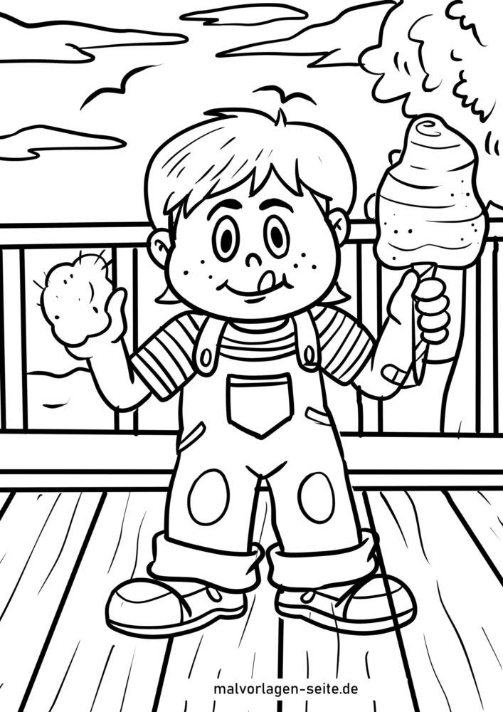 Coloring page cotton candy