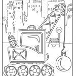 Coloring page construction vehicles