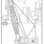 Crane sa panid sa pagkolor | Mga salakyanan sa konstruksyon