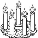 Coloring page Advent wreath / Advent | public holidays