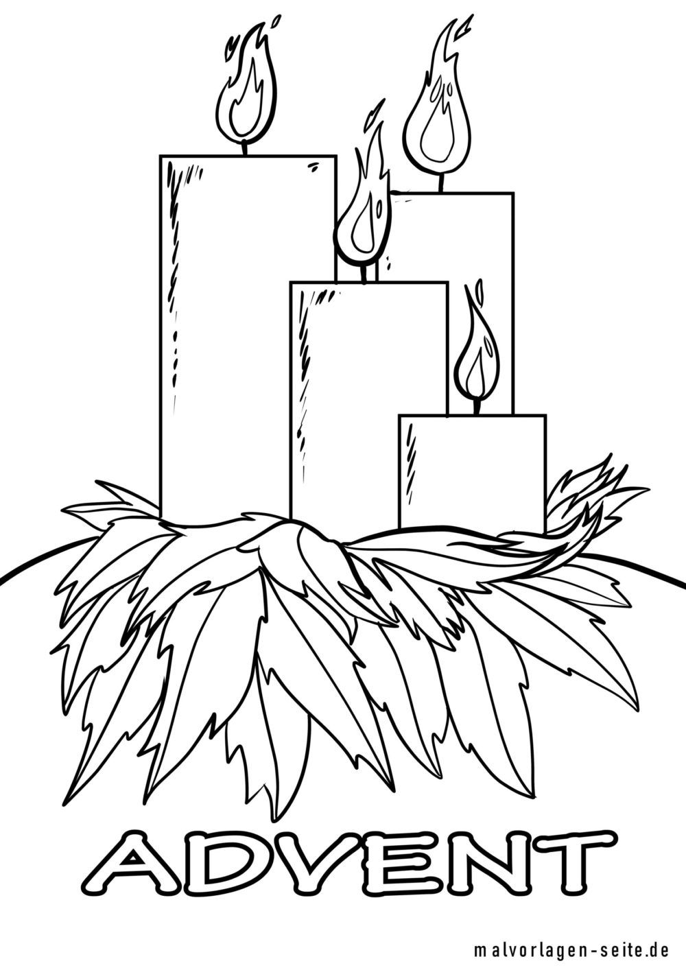 Coloring page Advent candles