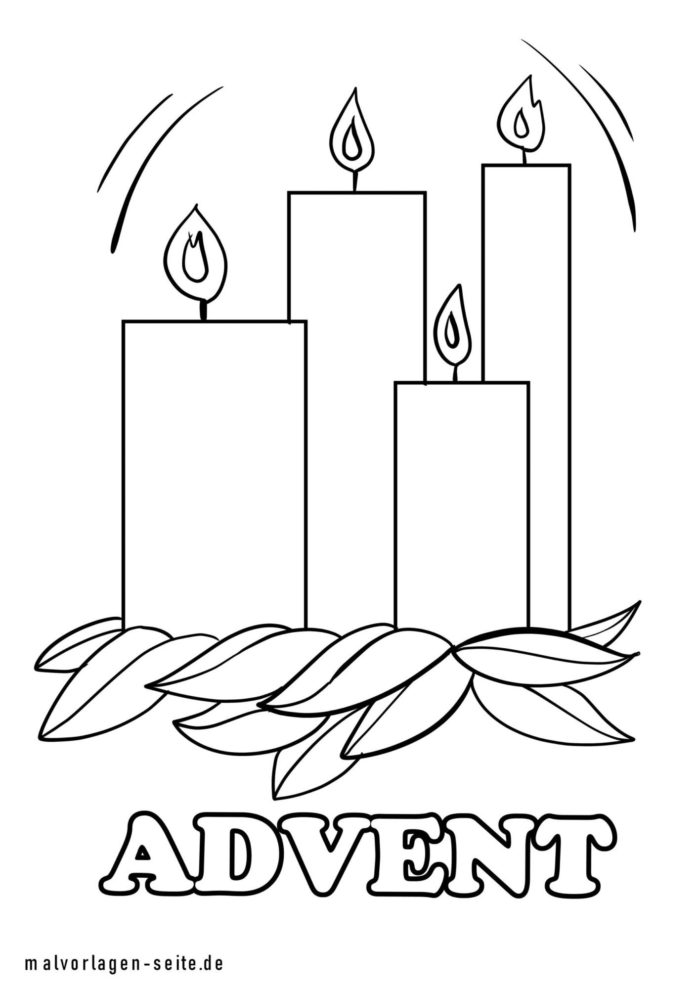 Omalovánky adventní svíčky