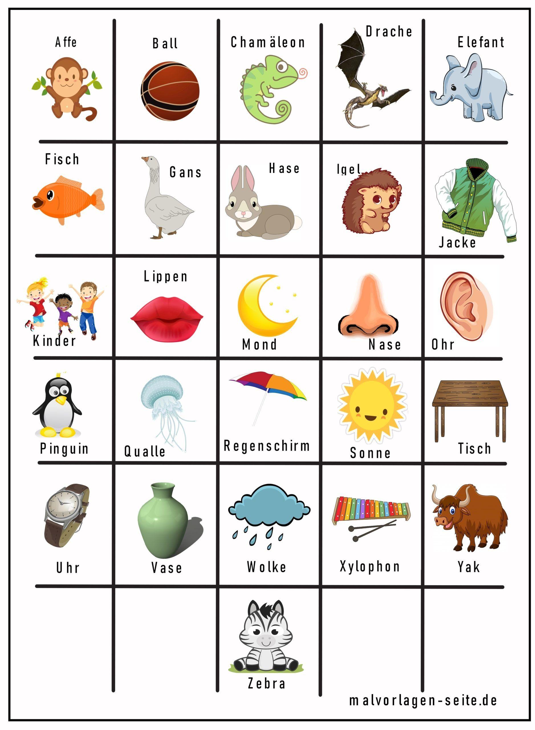 Memo Spielvorlage Alphabet