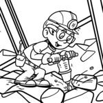 Coloring page miners
