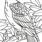 Coloring page buzzard bird of prey