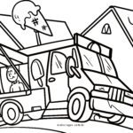 Coloring page ice cream truck