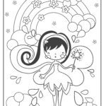Coloring page fairy / elf