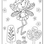 Coloring page fairies and elves