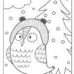 Coloring page owl