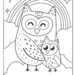 Coloring page owls
