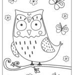 Coloring page owl for coloring