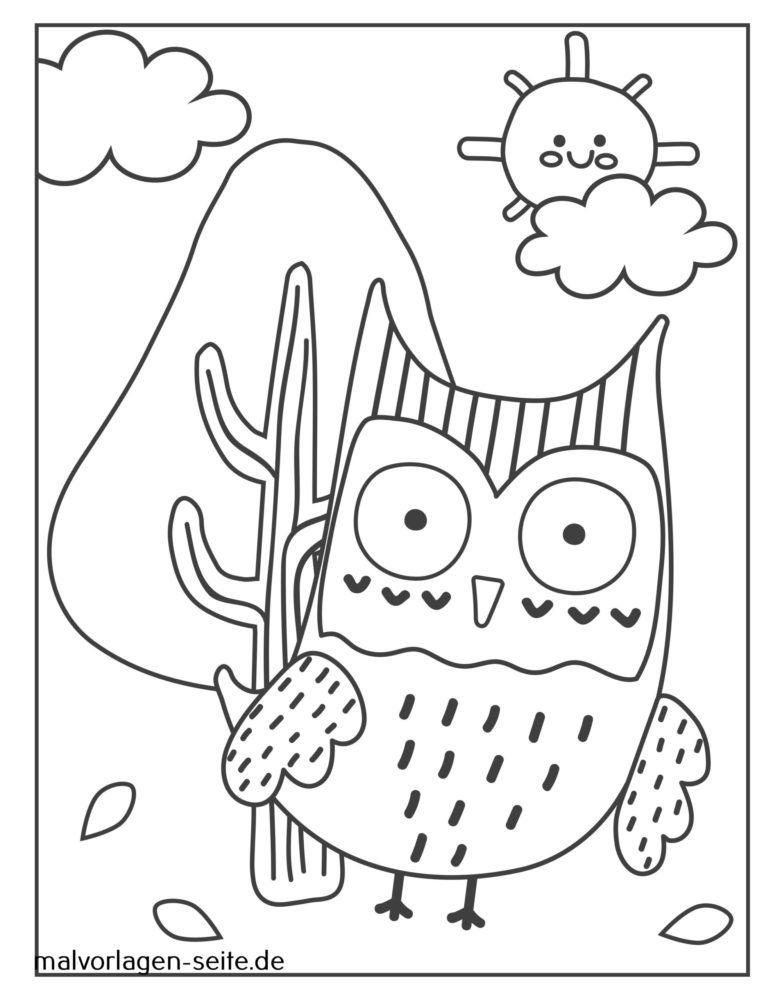 Burung Hantu Halaman Mewarnai Yang Bagus Halaman Mewarnai Gratis
