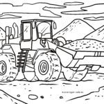 Coloring page front loader
