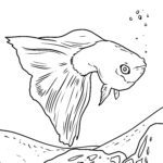Coloring page Guppy | fishes