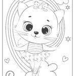 Värvimisleht armas kassipoeg