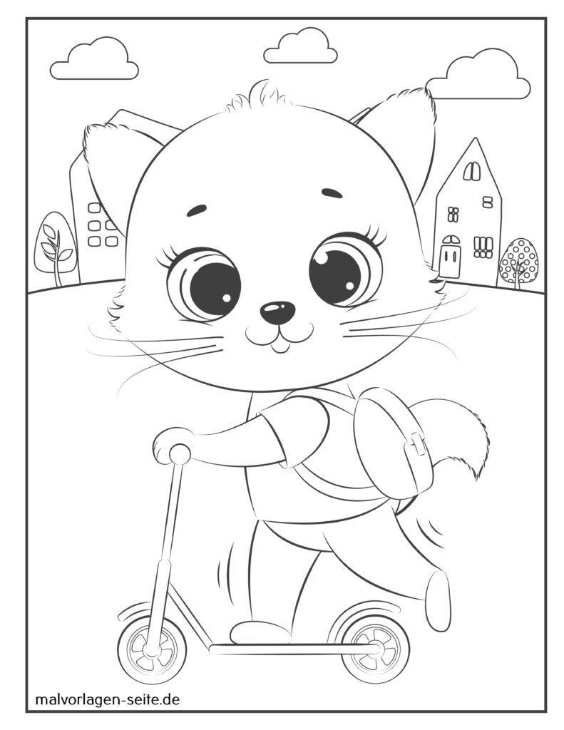 ausmalbilder katzen für kinder kostenlos drucken und ausmalen