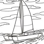 Coloriage catamaran | Navires