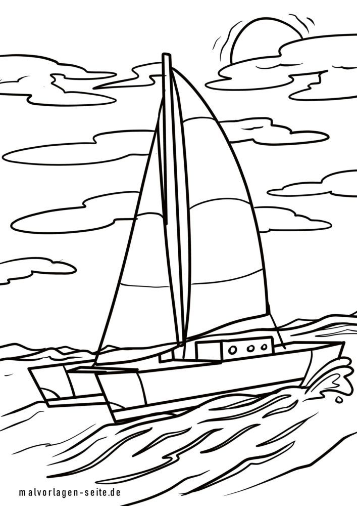 Coloriage catamaran