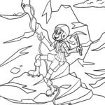 Coloring page climber | Leisure sport