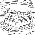 Coloring page hovercraft | Ships