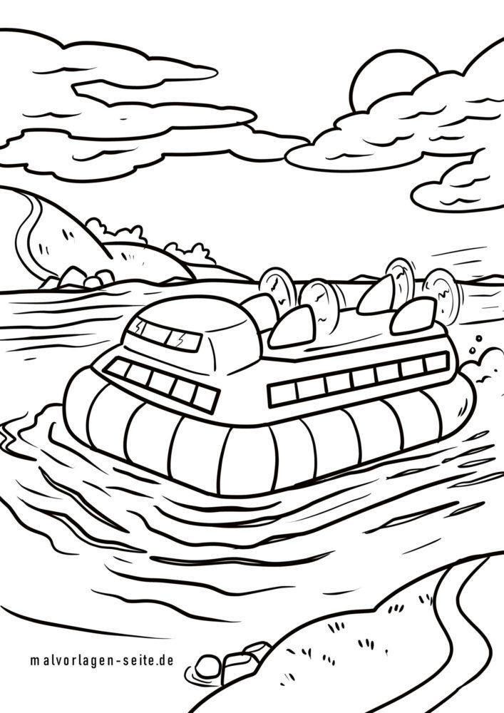 Malvorlage Luftkissenboot