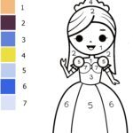 Paint by Numbers kit - Princess