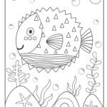 Coloring page puffer fish | fishes