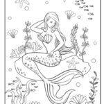 Malvorlage Meerjungfrau