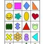 Memo Spiel Vorlage Formen | Spielen
