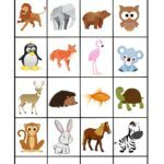 Memo game template animals | Play