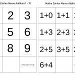 Modèle de mémo mathématique pour les enfants