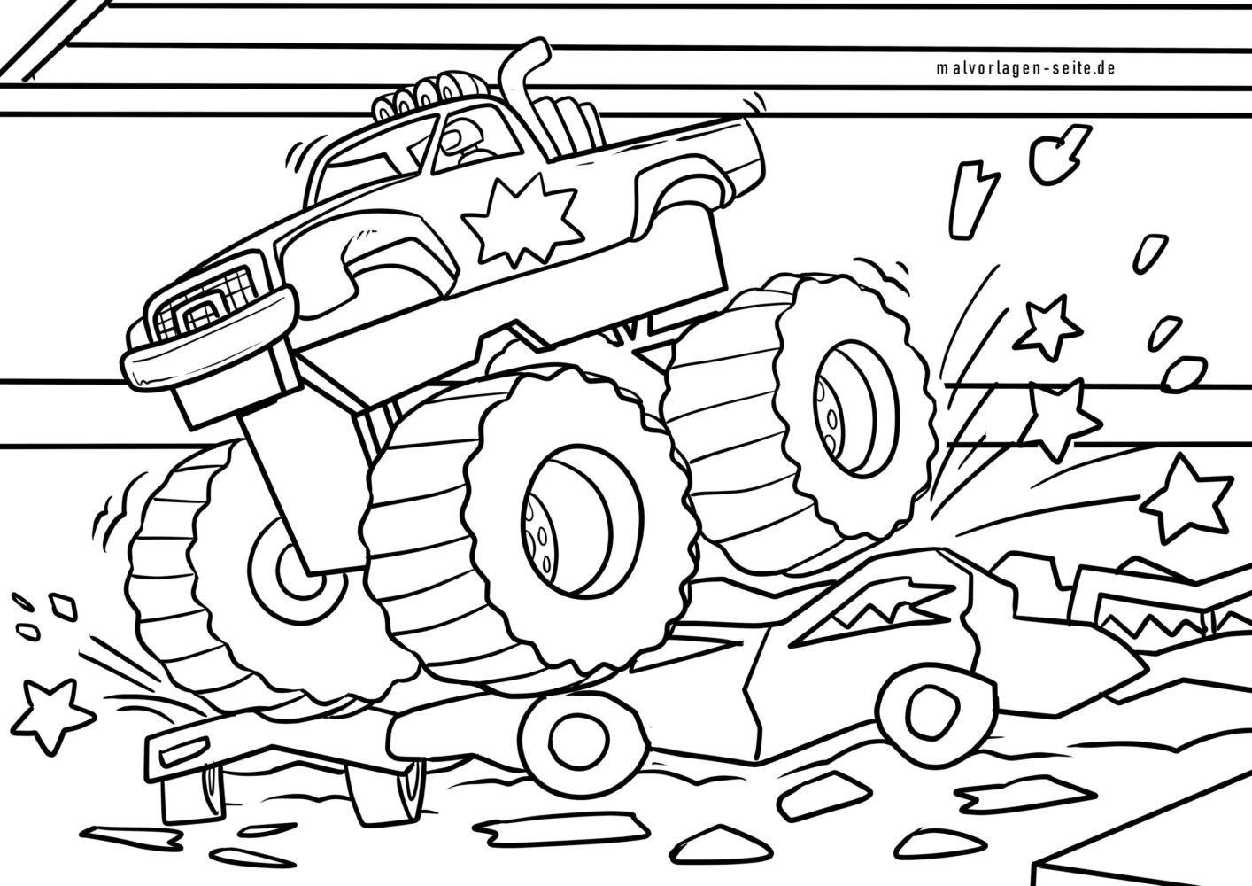 Malvorlage Monstertruck