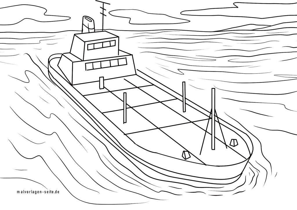 Coloring page oil tanker | Ships