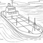 Coloring page oil tanker