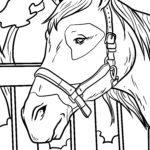 Bojanje stranice konjska glava