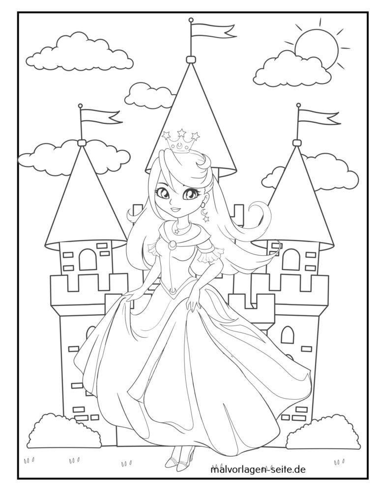 Coloring page princess
