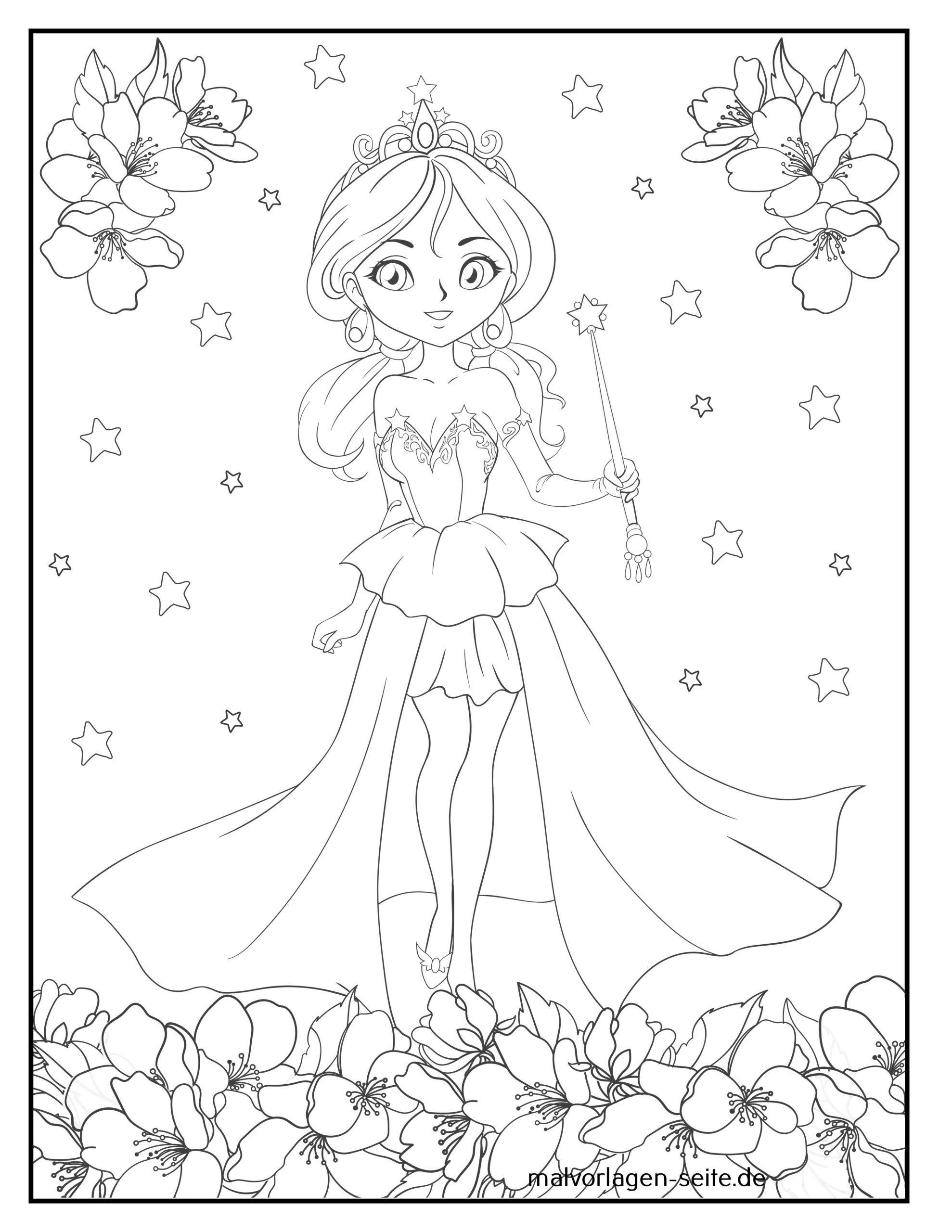 Malvorlage Prinzessin