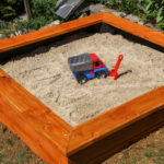 Create a sandbox for children in the garden