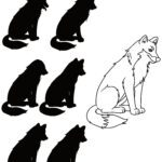 Shadow puzzle dog - find the matching shadow