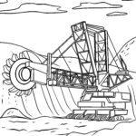Malvorlage Schaufelradbagger | Bagger