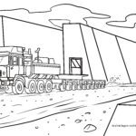 Coloring page heavy truck