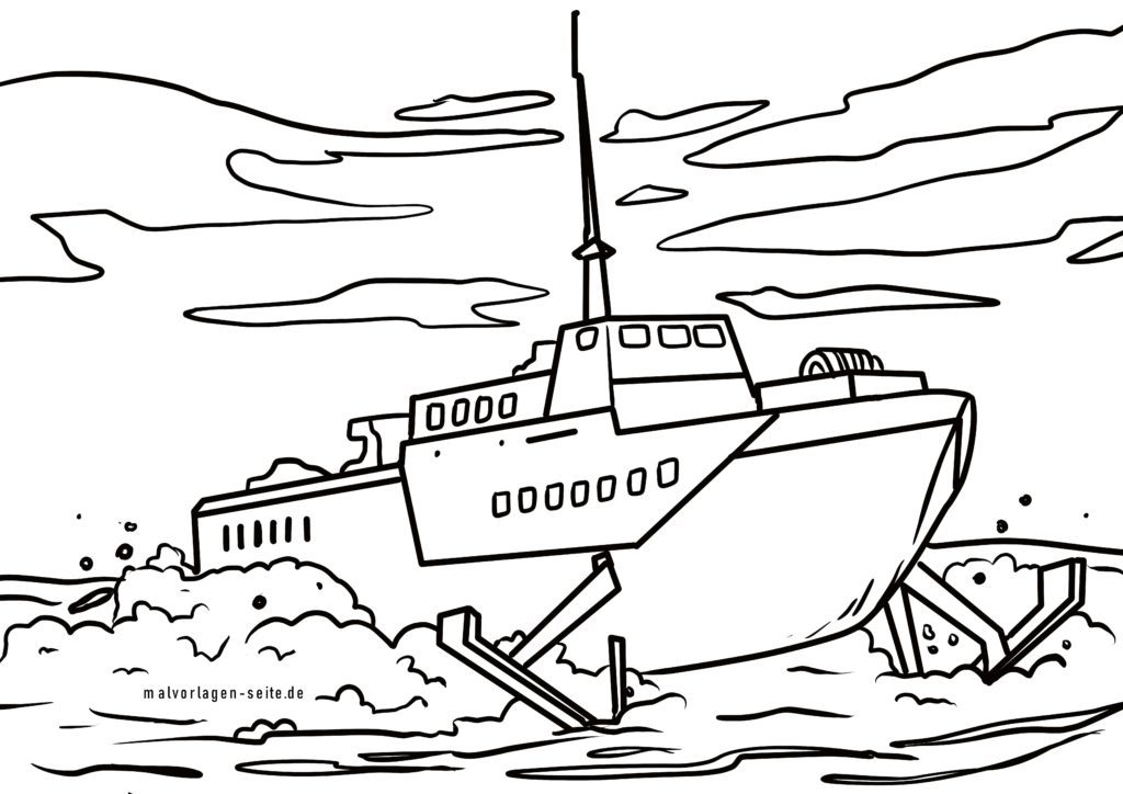 Coloring page hydrofoil | Ships