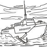 Malvorlage Tragflächenboot