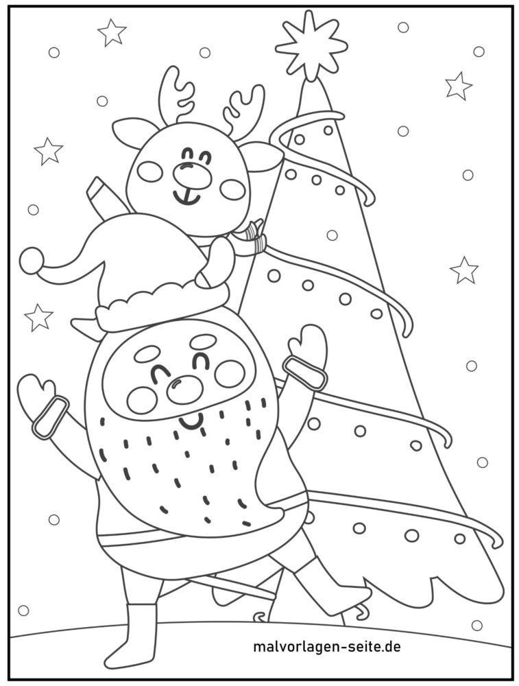 صفحه رنگ آمیزی کریسمس