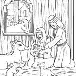 Размалёўка Каляднае нараджэнне Ісуса ў стайні